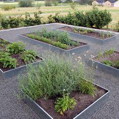 Galvanized planter beds