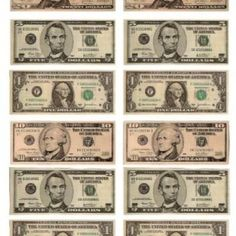 Printable Money Fake Printableplay
