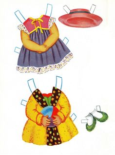 Sally the City Girl Doll Book, 1963 Lowe #1854 (4 of 8) |   bonecas de papel, paper doll, muñecas de papel