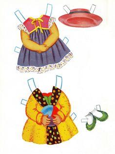 Sally the City Girl Doll Book, 1963 Lowe #1854 (4 of 8)     bonecas de papel, paper doll, muñecas de papel