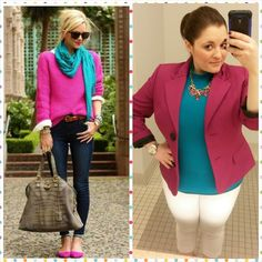 #ChubbyChique 3-10-2015 #ootd #MarchPinnedItSpinnedIt Pink and turquoise inspiration