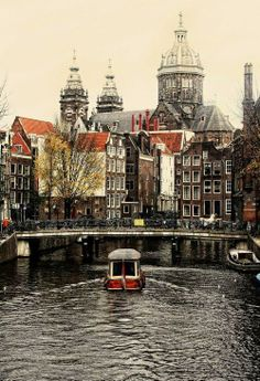 Amsterdam, The Netherlands. love my country, love amsterdam. please visit people! its a beautiful city no matter what weather, day, or age you are. Places Around The World, Travel Around The World, Around The Worlds, Places To Travel, Places To See, Wonderful Places, Beautiful Places, Amazing Places, Magic Places