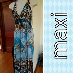 Selling this Print maxi dress sz med in my Poshmark closet! My username is: banzman55. #shopmycloset #poshmark #fashion #shopping #style #forsale #Dresses & Skirts