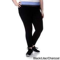 Chloe 90 Degree by Reflex Women's Plus Size Shirred Leg Yoga Capri Pants