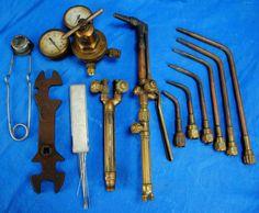 vintage welding torch | Vtg Victor Torch Lot w Gauge 550 J Torch Body Cutting Welding Oxy ...