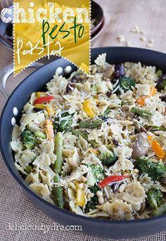 healthy chicken pesto pasta recipe