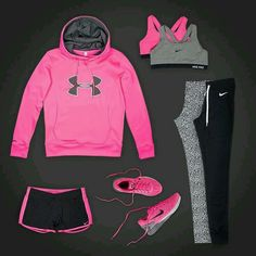 New Sport Outfit Pink Workout Gear Ideas Nike Outfits, Sport Outfits, Nike Fitness, Fitness Wear, Athletic Outfits, Athletic Wear, Sport Fashion, Fitness Fashion, Fitness Outfits