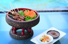 Our scrumptious Chicken Satay is definitely one of our best sellers. Enjoy our plethora of authentic Thai dishes at #TheTAOBali !   #thetanjungbenoabeachresortbali #thetanjungbenoa #TheTaoBali #bali