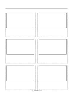 Storyboard Templates Downloadable And Printable Templates For