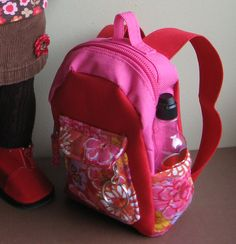 A Doll for all Seasons.  Back pack for American Girl Doll or any 18 inch doll.
