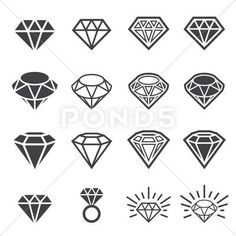 Illustration about Web icon illustration design vector. Diamond Tattoo Designs, Diamond Tattoos, Ring Tattoos, Body Art Tattoos, Tattoo Drawings, Sleeve Tattoos, Diamond Icon, Diamond Art, Diamond Doodle