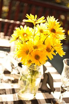 Decoration Mariage Jaune wedding yellow, fleurs