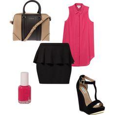 Peplum skirt outfit