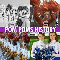 History of #Cheerleading Pom Poms #cheer #cheerleader