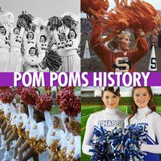 History of #Cheerleading Pom Poms #cheer #cheerleader