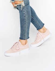 Image 1 of Vans Old Skool Peach Suede Trainers