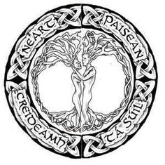 Custom Celtic Tree Of Life Tattoo Design- I love the male & female couple. However, I would get it without the wording. Celtic Patterns, Celtic Designs, Life Tattoos, Body Art Tattoos, Tatoos, Couple Tattoos, Tattoos For Guys, Tree Of Life Logo, Tree Wallpaper Iphone