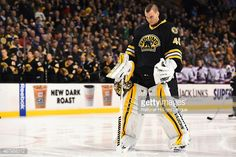 Tuukka Rask of the Boston Bruins stands on the ice during the... News Photo | Getty Images