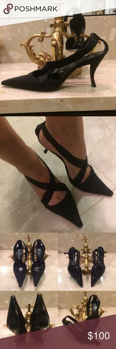 💋Yves Saint Laurent Shoes size 38 These are statement shoes! Great condition with some wear (see photos) Classy and Classic with a 3 inch heel. Yves Saint Laurent Shoes Heels
