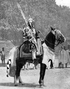 African Warrior on Horse