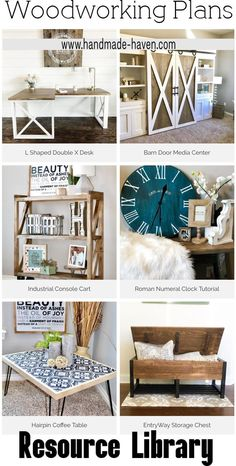 Free Woodworking Plans Library... A great variety of amazing projects to choose from! #diy #farmhouse #woodworkplans #HomeDecor #ResourceLibrary