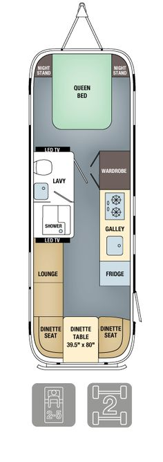 Airstream Floor Plans - Land Yacht 28