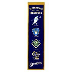 Milwaukee Brewers 8 x 32 Heritage Banner - Navy