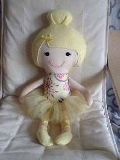 Ballerina doll Handmade doll ballerina softie  by BellaBooStudioUK