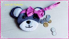 Como fazer um porta moedas de ursinho reaproveitando perna de calça jaens