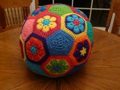 Hexagon Crochet Soccer Ball :D