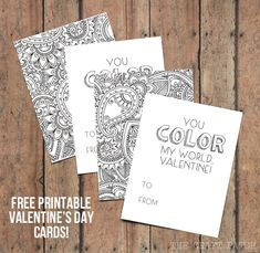 You Color My World, Valentine! Free printable coloring page valentines!
