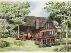 Buster Brown Cabin Front Elevation -- Natural Element Homes