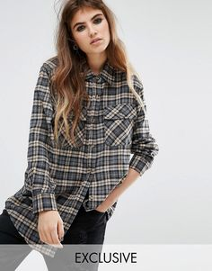 Image 1 of Reclaimed Vintage Checked Boyfriend Shirt