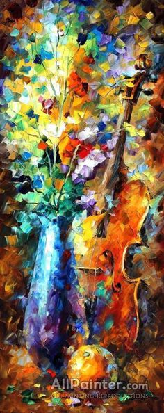 Leonid Afremov The Music Of Violin oil painting reproductions for sale