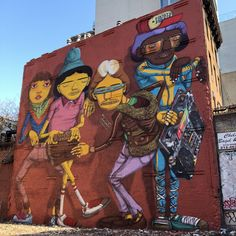 Os Gemeos brothers, graffiti on 14th Street, New York City