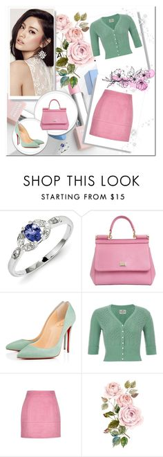 """""""The rain knocks on my window"""" by jeonyeokhaneul ❤ liked on Polyvore featuring Nana', Kevin Jewelers, Dolce&Gabbana, Christian Louboutin, Sephora Collection and Karlsson"""
