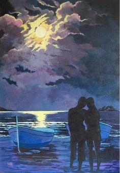 Titulo: Luna llena, acrílico sobre lienzo, 116 x 81, 1200 €