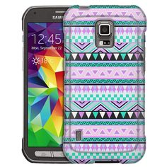 Samsung Galaxy S5 Active Aztec Andes Mauve Teal Slim Case
