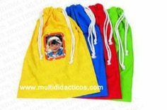 #Bolsas infantiles de #tela en diversos #colores. Con #bolsillo #transparente para #foto - Tienda Educamueble
