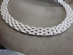 White gold chain link necklace with 7 carat diamonds Gold Chain Link Necklace, Gold Chains, Diamonds, Jewelry Making, White Gold, Wedding Rings, Engagement Rings, Jewels, Bracelets