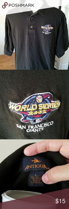 San Francisco Giants 2002 World Series Polo San Francisco Giants 2002 World Series Polo. Smoke and pet free home. Antigua Shirts Polos