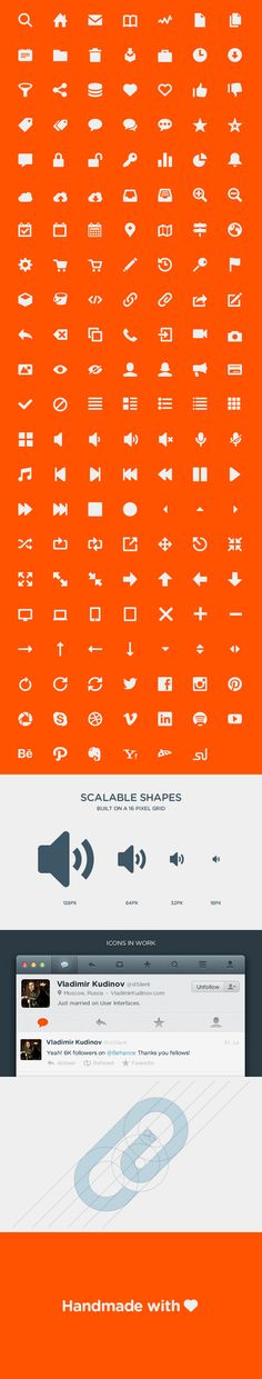 This set of icons was created in order to become a universal tool in the hands of a designer. It contains vector icons which are most widely used in the modern web and mobile interfaces. All the icons are designed with minimum detailing, straight lines and angles, in order to stay accurate and clear in all sizes. Most icons are designed with micro-curves, unnoticeable in small sizes, and visible in large sizes.
