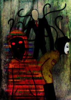 Creepypasta:Slenderman, Masky, and Hoodie