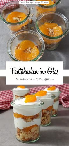 Children love that! How about fan cake in a Das lieben Kinder! Wie wäre es mit Fantakuchen im Glas? Today there are new pictures of fan cake in a glass. The perfect dessert for Christmas. Layered Desserts, Summer Desserts, Christmas Desserts, Summer Recipes, Dessert Parfait, Bon Dessert, Healthy Dessert Recipes, Smoothie Recipes, Foto Pastel