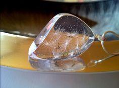 Ketten - Kristallblättchen 2 mit dem Löwenzahn - ein Designerstück von CoralRose bei DaWanda