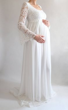c6cd1749849 MARGARET Lace Maternity Dress for Baby Shower