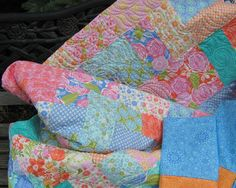 Quilt Queen Size Bed Handmade Ensemble Honey by bungalowquilts, $350.00