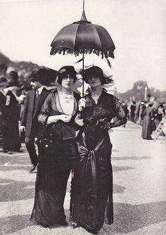 photo noir et blanc : Parisiennes, 1910
