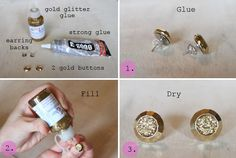 DIY earrings.