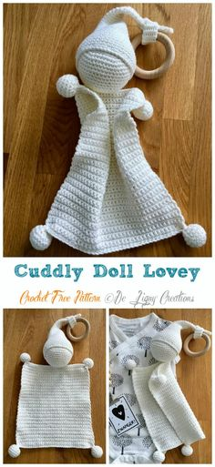 Terrific Free of Charge Cute crochet lovey Ideas Cuddly Doll Lovey Crochet Free Pattern – Baby Security Comforter Free Crochet Security Blanket, Lovey Blanket, Baby Security Blanket, Häkelanleitung Baby, Baby Lovey, Pattern Baby, Baby Patterns, Free Easy Crochet Patterns, Free Baby Knitting Patterns